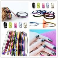 Free Shipping 30 Pcs Multicolor Nails Striping Tape Line DIY Nail Art Tips Decoration Sticker