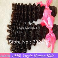 "DHL Free shipping 2pcs/lot 100% human queen hair Brazilian virgin hair hot selling deep wave hair 8""-34"" Can be dyed"