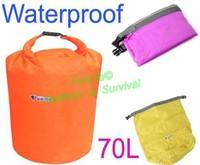 70L Waterproof Dry Bag for Canoe Kayak Rafting Camping Travel Kit