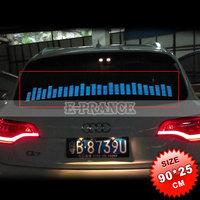 90cm*25cm Car Music Rhythm Sticker Sound Music Activated Equalizer  LED EL Sheet Light Lamp Free Shipping OT15