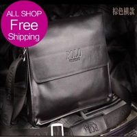 2013 Crazy Free Designer Brand Briefcases Vintage Men Bags Fashion Genuine Leather Bags Shoulder Messenger Bags Cross Body Bag
