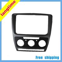 Free shipping-Car refitting DVD frame,DVD panel,Dash Kit,Fascia,Audio frame for 2013 Skoda Octavia(2013 Yi Jie),2DIN