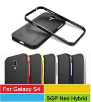 Newest Spigen SGP Galaxy S4 Case NEO Hybrid Slim Fit Dual Protection Cover For Samsung Galaxy S4 S IV I9500 DHL Freeship 50pcs/l