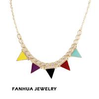 Колье-ошейник Hot Selling Costume Jewelry Antique Gold Color Alloy Big Imitation Gemstone Aulic Chunky Necklace for Women