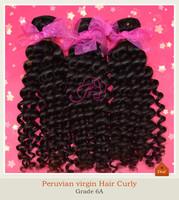 Free Shipping Peruvian virgin hair deep Curly weaves 3pcs/lot  Virgin Human Hair Extension Natural Color High Quality