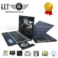 DHL 15.6 inch notebook  computer Ultrabook laptop with Intel D2500 or N2600 4GB RAM 500GB HDD  DVD-RW Window 7 Bluetooth HDMI