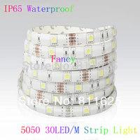 5M 5050 DC12 5M 150Leds  LED Flexible Strips Flexible LED Lighting VWarm white White Red Green Blue Yellow  RGB 30 LED/M