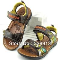 New arrival 2013 summer children genuine  leather sandals for boys kids child shoes  sandalias  footwear size 26-37