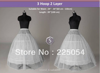 hot sale style No 5 White3 Hoop 2 Layers Crinoline wedding Petticoat