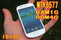 Newest i8190 1GB RAM+4GB ROM mtk6577 Dual Core mini S3 Android 4.1 camera 5MP  Smart Phone WiFi Freeshipping