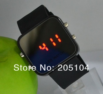 Free shipping ! 2013 Colorful Rubber Jelly Watches Women Girl Men Reflective Mirror Wrist Watch Drop Shipping
