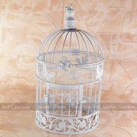 White Butterfly Wedding Decorated Bird Cages Garden Decorative Birdcage