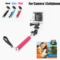Go pro Accessories Universal 360 Degree Rotary Extendable Handheld Monopod for GoPro Hero2 Hero3 Camera for iphone Cellphone