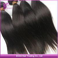 "Super Soft! DHL Free Shipping 3 pcs/Lot 8""~30"" Virgin Unprocessed Filipino Straight Hair EVAS Hair Products"