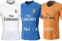 13/14 real madrid home White soccer jerseys 7# Ronaldo BALE ISCO MARCELO best thai quality football uniforms Embroidery logo