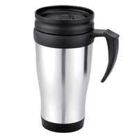 Free shipping 14OZ Stainless steel coffee cup coffee mug travel mug office cup plastic cup insulated