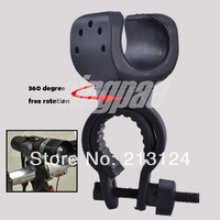 20 Pcs / Lot 360 degree Rotation Cycling Grip Mount Bike Clamp Clip Bicycle Flashlight LED Torch Light Holder Plastic Clip