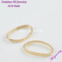 Free Shipping 2014 New Style Micro Pave Zircon Fashion Jewelry Clasps For Bracelet  6pcs/lot  MixColor 18*30MM Oval Brass Clasps