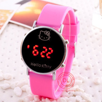 10 Colors Hello Kitty Lady Girl Kid LED Digital Jelly Wristwatch,Multicolor Silicone Band Watch.TOP Quality,FREE SHIPPING