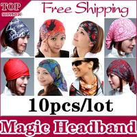 10pcs/lot Sports Cycling Bike Bicycle Riding Magic Multipurpose Sweatband Headband Veil Head Scarf Scarves Face Mesh Bandanas