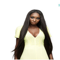 Custom made order omnbre #1bT#30 braziian virgin hair silk top lace front wig shedding tanlge free