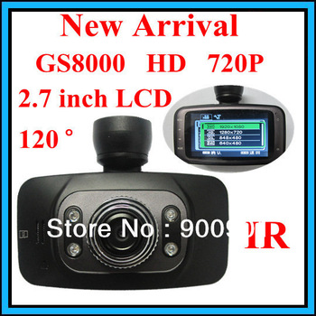 New Arrival 1.Car DVR HD 720P 2.7' LCD Camera IR Night Vision 120 degree wide angle 2.Novetak GS8000 Full HD 1920x1080P