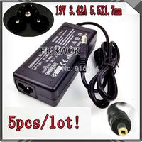 5pcs/lot 19V 3.42A 65W AC Laptop Power Adapter For acer 1200 1680 PA-1700-02 S7200 TM342 TM345T TM347T TM351TE TM350TE
