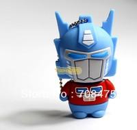 Real Capacity !! Memory Flash USB Drive 1GB 2GB 4GB 8GB 16GB 32GB Cute Rubber Rober style Blue