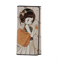 Кошелек BETTY women's cartoon multi card holder fashion hasp three-fold long wallet A4002-21
