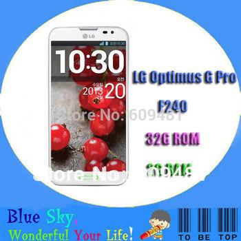"Hot sale LG Optimus G Pro F240 original cell phones Quad core 2G RAM + 32G ROM 5.5"" Capacitive touch screen phone"
