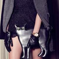 Free shipping! fashion women's vivi cat bag PU leather chain brand funny day clutches handbags messenger shoulder bag purses
