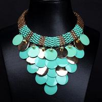 New Bohemia European Water Vintage Luxurious Choker Handmade Necklace for Women Sale Ni/Pb free Shipping (Mini order is $15)