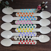 Free shipping (9 colors +100pcs/lot) party tableware disposable tableware wooden spoonf fork knie Disposable tableware