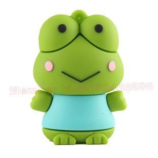16gb 32gb 64gb 128gb 256gb 512gb  free shipping, cute frog prince USB flash drive wholesale sales, USB 2 storage.