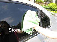 Freeshipping Auto Microfiber Glass Towel Car Clean Wash Cloth 350mmX350mmX2pcs