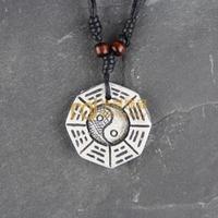12pcs Wholesale Tibetan Jewelry Yak Necklace Fashion Artificial Bone Pendant Eight diagrams N0344