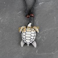 12pcs Wholesale Tibetan Jewelry Yak Necklace Fashion Artificial Bone Pendant Sea Turtles N0148