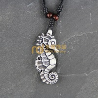 2013 Hot Ethnic Jewelry Resin Ivory Ox Bone Necklace N0302 Sea horse Travel Souvenir Wholesale (mix min order $29)