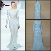 2013 elie saab long sleeve sexy evening dress 3016