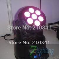 4pcs/lot,7*10W LED Moving Head Wash Light,Mini Wash Moving Head,RGBW Quad colors