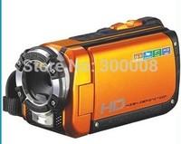 Free Shipping 3 meters underwater  full HD 1080P 16MP Waterproof  digital camcorder Orange and Yellow Color