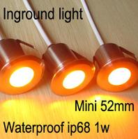 Underground light led ip68 Mini,inground light small for lighting around bathtub, 12v 24v 1w waterproof ip68,stainless steel
