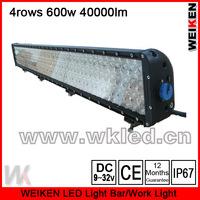 4rows IP67 52'' 600W 40000lm waterproof offroad atv utv suv truck jeep driving light bar