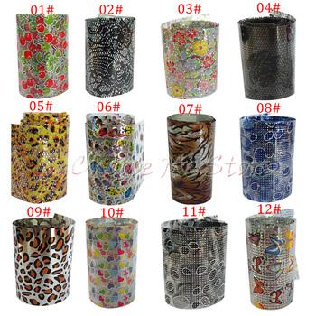 (100pcs/lot)New arrival Hot Selling Transfer Foil for Nail Art, Nail Sticker 2.5cm*9cm/pcs 12 Designs(NS12)