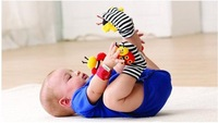 New arrival baby rattle baby toys Lamaze ring paper Wrist Rattle and Foot Socks Garden  bee Wrist Rattle+Foot SockC-F