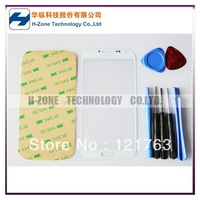 Freeshipping White Color Galaxy S4 I9500 Outer Glass Lens Screen Replacement +Tools+Adhesive