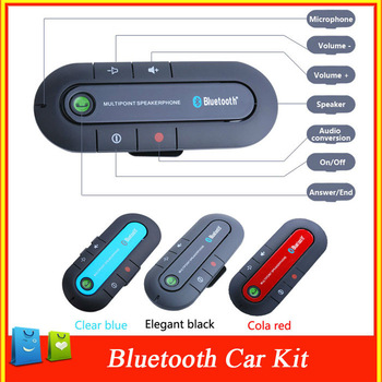 New-type Wireless Bluetooth Handsfree Speakerphone Car Kit With Car Charger  Bluetooth Hands free Kit