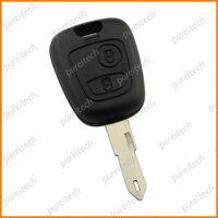 Free shipping Peugeot 106 206 remote key shell fob car key 2 buttons no logo car key wholesale car alarm system