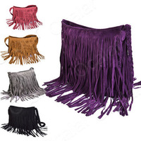 New & Hot ! Min Order $5 Long Braids Tassel Fashion European Style Woman's Ladies' Shoulder Messenger Bag B098