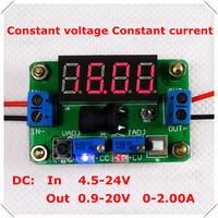 DC-DC Ammeter Voltmeter Constant voltage/current Adjustable Step-Down Supply Power Module buck converter led :Red [3 pcs/lot]
